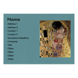 Gustav Klimt's The Kiss Detail (circa 1908) Large Business Cards (Pack Of 100)