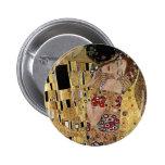 Gustav Klimt's The Kiss Detail (circa 1908) Buttons