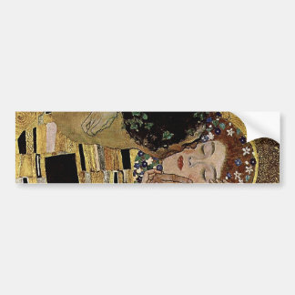Gustav Klimt's The Kiss Detail (circa 1908) Car Bumper Sticker
