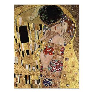 Gustav Klimt's The Kiss Detail (circa 1908) 4.25x5.5 Paper Invitation Card