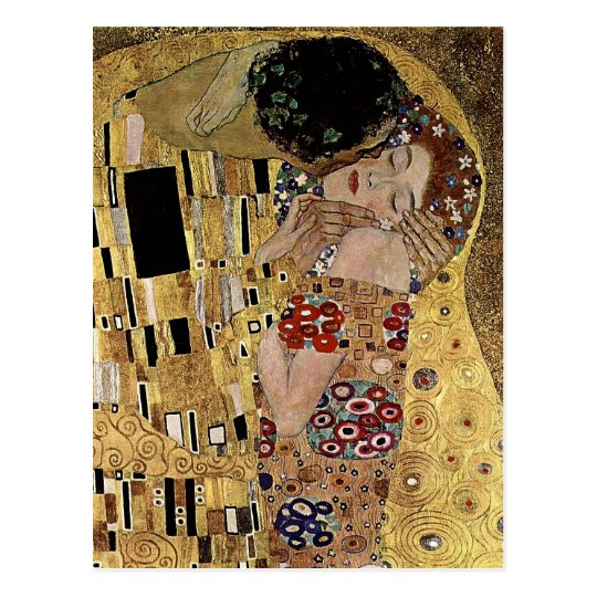 Gustav Klimt's The Kiss Detail (circa 1908) Postcard