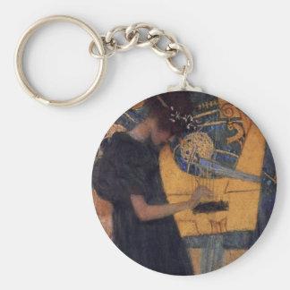 Gustav Kllimt Harp Music Key Chain