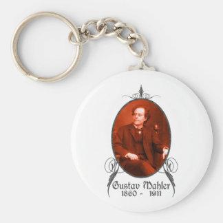 Gustav Mahler Basic Round Button Keychain