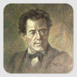 Gustav Mahler Pegatina Cuadrada