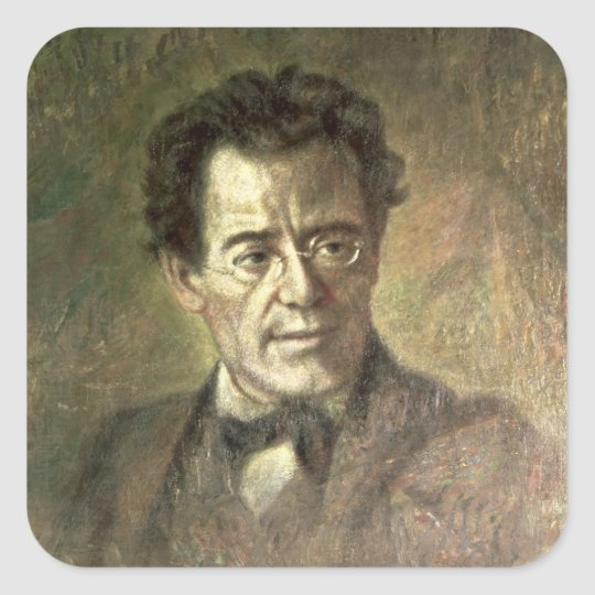 Gustav Mahler Square Sticker