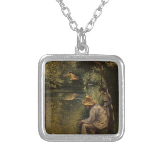 Gustave Caillebotte- Angling Custom Necklace