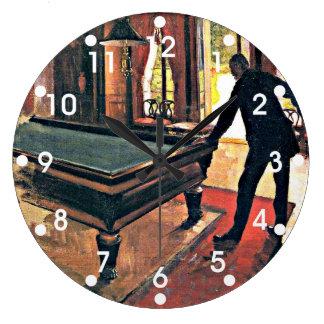 Gustave Caillebotte art: Billiards Wall Clocks