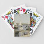 Gustave Caillebotte - barcos de navegación en Arge Baraja Cartas De Poker
