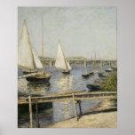 Gustave Caillebotte - barcos de navegación en Arge Impresiones