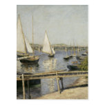 Gustave Caillebotte - barcos de navegación en Arge Postales