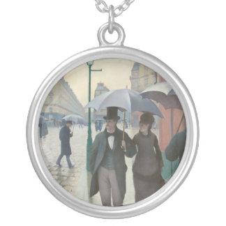 Gustave Caillebotte - calle de París; Día lluvioso Pendiente Personalizado
