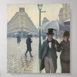 Gustave Caillebotte - calle de París; Día lluvioso Poster