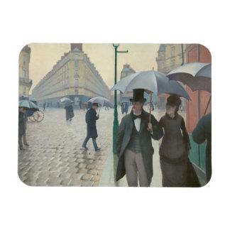 Gustave Caillebotte - calle de París; Día lluvioso Rectangle Magnet