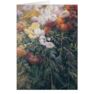 Gustave Caillebotte- Clump of Chrysanthemum Card