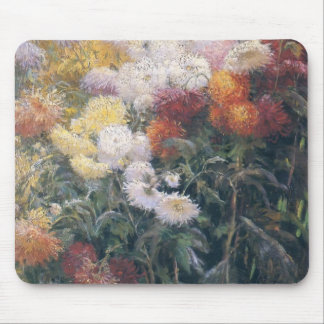 Gustave Caillebotte- Clump of Chrysanthemum Mouse Pad
