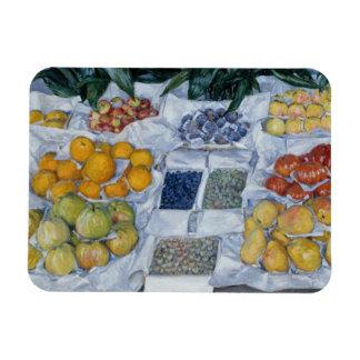 Gustave Caillebotte - fruta exhibida en un soporte Iman De Vinilo