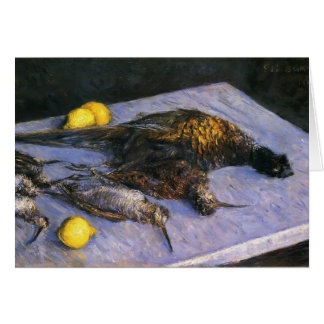 Gustave Caillebotte- Game Birds And Lemons Greeting Card