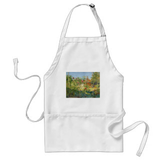 Gustave Caillebotte- Garten in Trouville Adult Apron