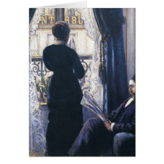 Gustave Caillebotte- Interior, Woman at the Window Greeting Cards