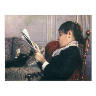 Gustave Caillebotte- Interior, Woman Reading Post Card