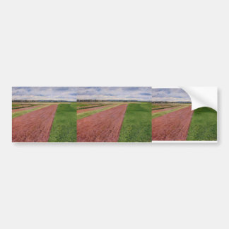 Gustave Caillebotte-Landscape in Yellow & Rose Bumper Stickers