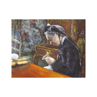 Gustave Caillebotte - Mademoiselle Boissiere Canvas Print