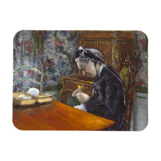 Gustave Caillebotte - Mademoiselle Boissiere Imán Foto Rectangular