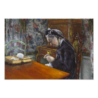 Gustave Caillebotte - Mademoiselle Boissiere Poster