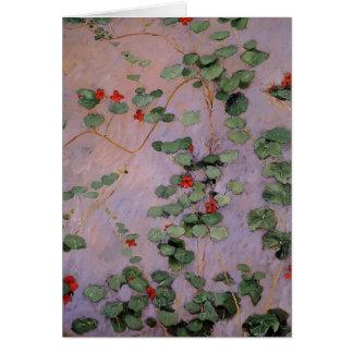 Gustave Caillebotte- Nasturtiums Greeting Cards