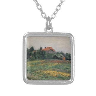Gustave Caillebotte- Norman Landscape Custom Necklace