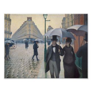 Gustave Caillebotte- Paris, a Rainy Day Poster