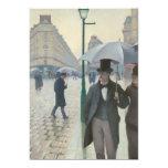 Gustave Caillebotte - Paris Street; Rainy Day Invitation