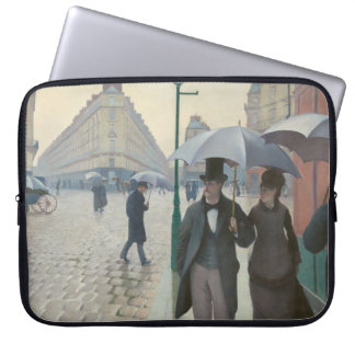 Gustave Caillebotte - Paris Street; Rainy Day Laptop Computer Sleeves