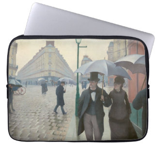 Gustave Caillebotte - Paris Street; Rainy Day Laptop Sleeves