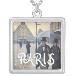 Gustave Caillebotte Paris Street Rainy Day Custom Jewelry