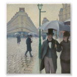 Gustave Caillebotte - Paris Street; Rainy Day Posters