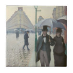 Gustave Caillebotte - Paris Street; Rainy Day Small Square Tile