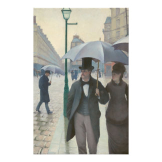 Gustave Caillebotte - Paris Street; Rainy Day Custom Stationery