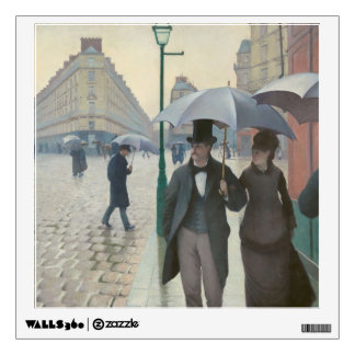 Gustave Caillebotte - Paris Street; Rainy Day Wall Sticker