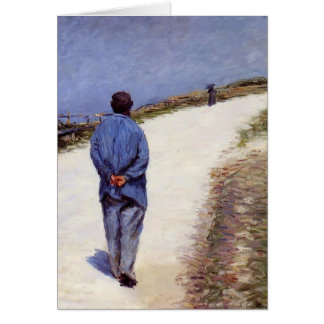 Gustave Caillebotte- Pere Magloire on the Road Card