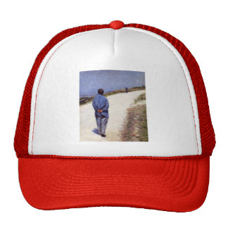 Gustave Caillebotte- Pere Magloire on the Road Trucker Hat