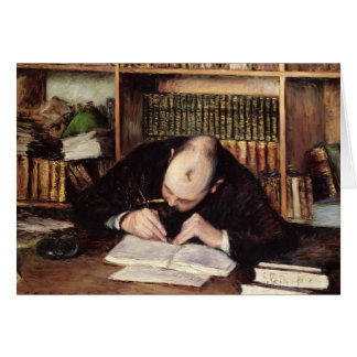 Gustave Caillebotte- Portrait of a Man Writing Greeting Card