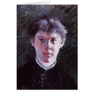 Gustave Caillebotte- Portrait of a Schoolboy Greeting Cards