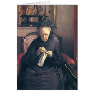 Gustave Caillebotte-Portrait of Madame Caillebotte Greeting Card