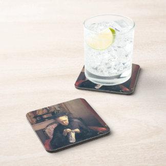 Gustave Caillebotte-Portrait of Madame Caillebotte Beverage Coaster