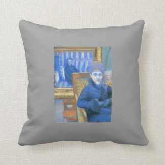 Gustave Caillebotte: Portrait of Madame X... Throw Pillows