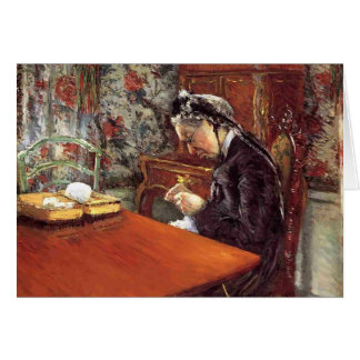 Gustave Caillebotte- Portrait of Mademoiselle Card