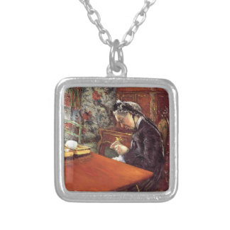 Gustave Caillebotte- Portrait of Mademoiselle Custom Jewelry