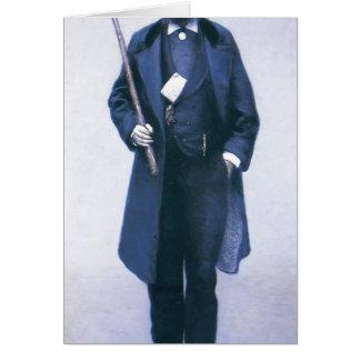 Gustave Caillebotte- Portrait of Paul Hugot Greeting Cards