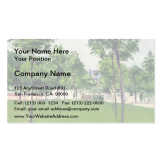 Gustave Caillebotte- Promenade at Argenteuil Double-Sided Standard Business Cards (Pack Of 100)